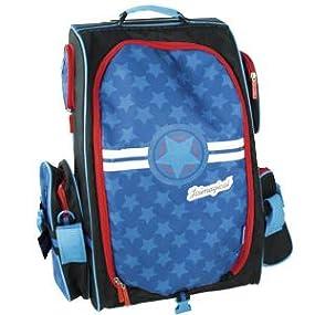 mochila para niños, maleta para niño, maleta azul para niños, maleta organizadora