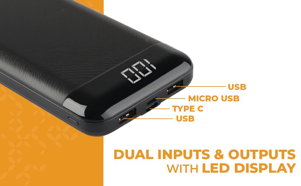 PLAY PBA20, Powerbank, Dual input and output