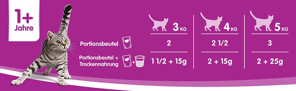 whiskas cat food en sauce feeding recommendation