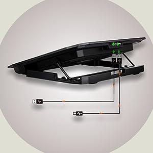 Zinq Technologies ZQCP2F Dual Fan Notebook/Laptop Cooling Pad (Black)