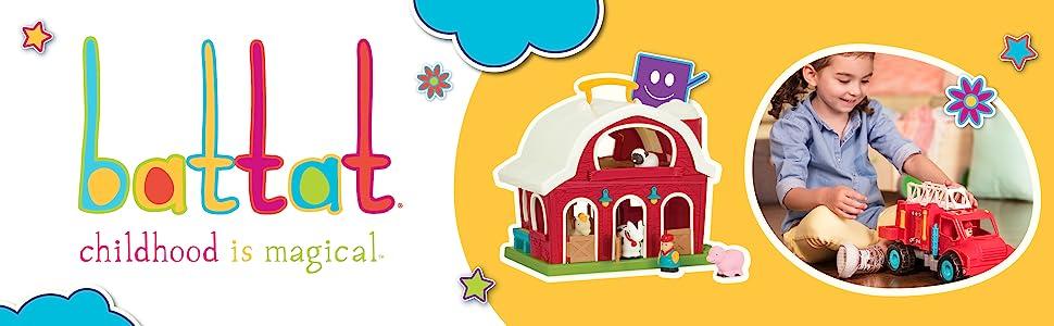 battat mini car set toy for toddler kids baby learning developmental educational toy