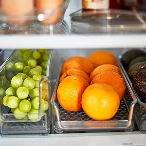 organizer organization in fridge bin bins