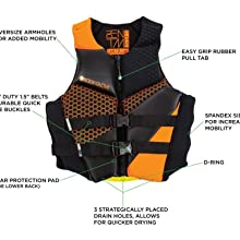 life jacket wake ski board swim ocean oneill obrien stearns uscg pfd boating approved floatation k2