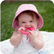 parenting function sun hat teether baby infant toddler honest organic natural