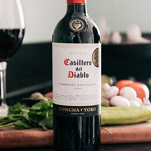 Wine, Casillero del Diablo; Reserva; Chilean Wine