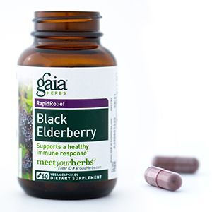 Gaia Herbs Black Elderberry Capsules Bottle Image