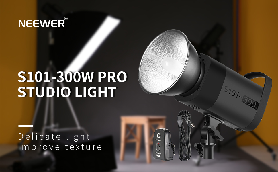 0.1-1.8s Recycling 300W 5600K with Modeling Lamp for Photo Studio ...