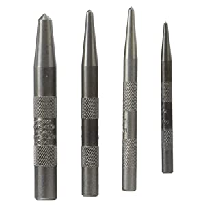 4-Piece Knurled Center Punch Kit