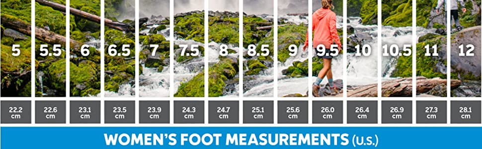 Women's hiking boot sizing
