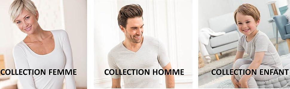 Damart Lot de 2 T-Shirt Thermolactyl Degr/é 2 Homme