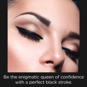 be the enigmatic queen of confidence with perfect black stroke