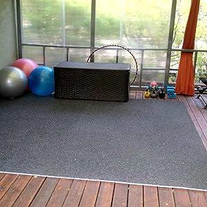 Amazon incstores soft rubber interlocking gym tiles perfect