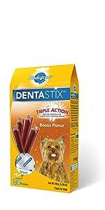 Dentastix Bacon Dog Treats, Bacon Flavor Dog Snacks, Treating, Training Treats