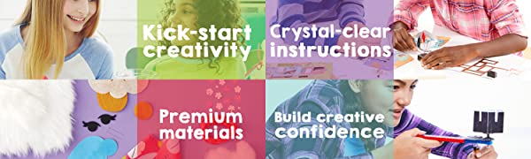 Create, Inspire, Creativity, DIY, Craft, Crystal Clear instructions, Confidence, Premium Materials