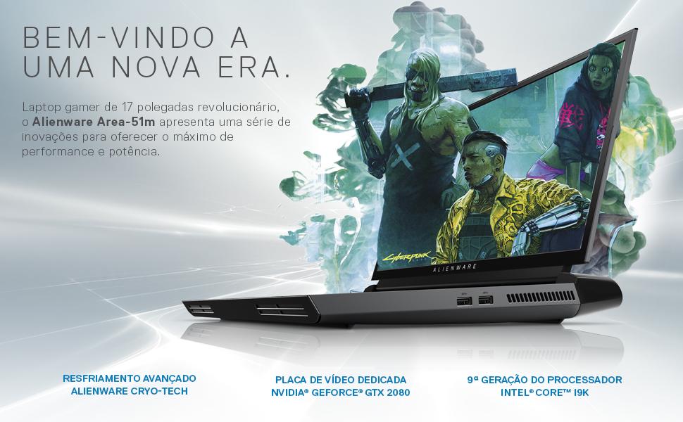 Notebook Gamer Alienware Area-51m AW17-51M-A30P 9ª geração