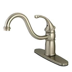 Kingston Brass KB1575GLLS Single Handle Kitchen Faucet Oil Rubbed Bronze