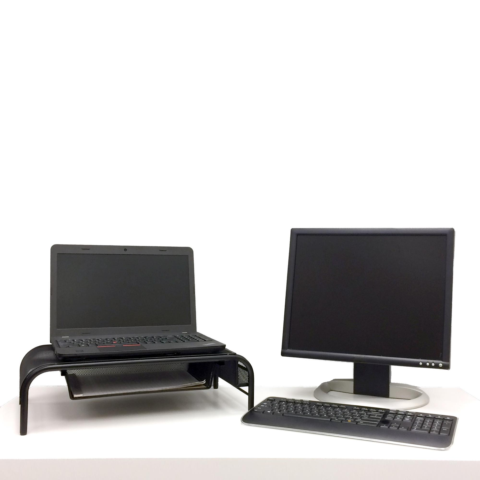Amazon Com Mind Reader Raise Metal Mesh Monitor Stand