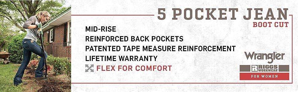 RIGGS Workwear Female 5 Pocket Boot Cut Jean