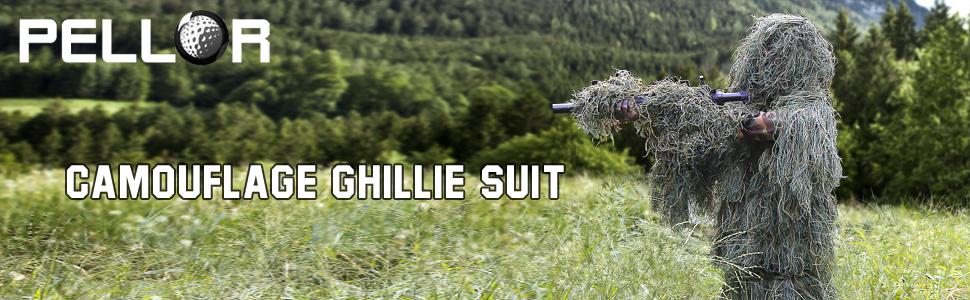 Amazon.com: Pellor - Traje de camuflaje 3D para caza, caza ...