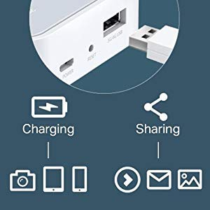 Multi-functional USB Port for File Sharing and Charging