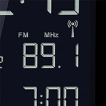 BRAUN BNC010 RADIO REVEIL NUMERIQUE BLANC