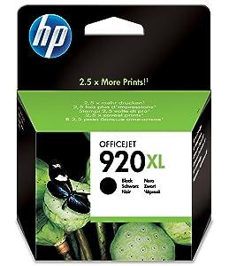 HP 920XL High Yield Black Original Ink Cartridge CD975AE