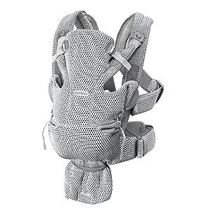 BABYBJ/ÖRN Porte-B/éb/é Mini 3D Mesh Anthracite
