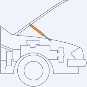 Stabilus 1504bo Lift O Mat Gasdruckfeder 150 Newton Auto