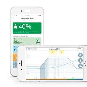 Informes de la app para mayor detalle del ambiente en casa.