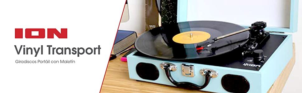 ION Audio Vinyl Transport - Giradiscos Ultra-Portátil de Tres ...