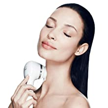 cleansing brush sonic device lifting firm firming anti aging facial uplift smart profile exfoliate