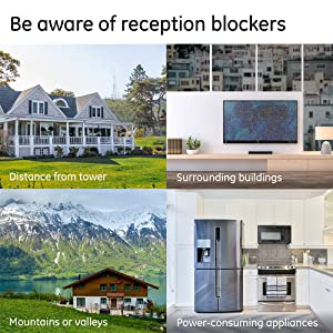 Be aware of reception blocker that are dependent on your physical location and environment