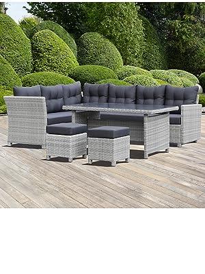 Amazonde Greemotion Rattan Lounge Set Toscana 5 Teilig