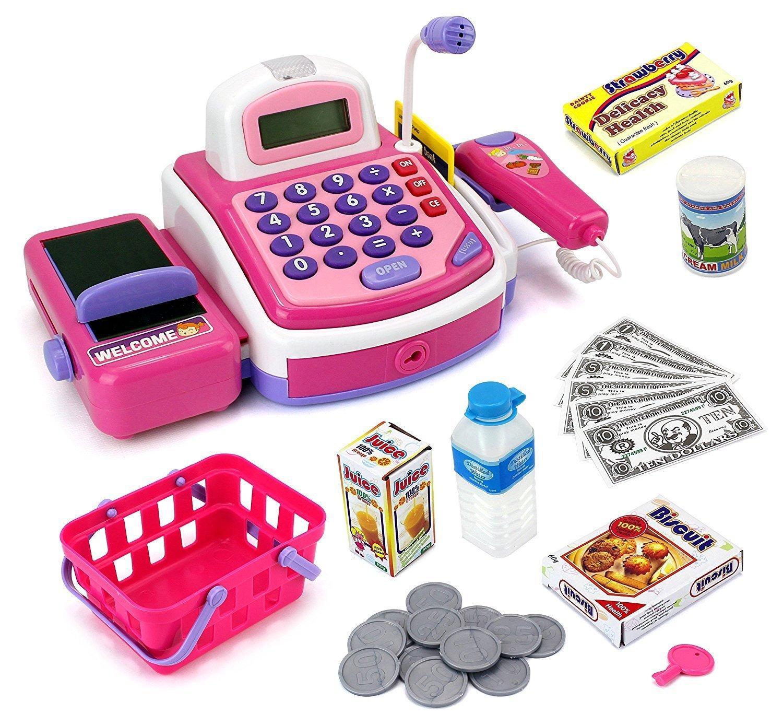 Amazon.com: Velocity Toys Pretend Play Electronic Cash ...