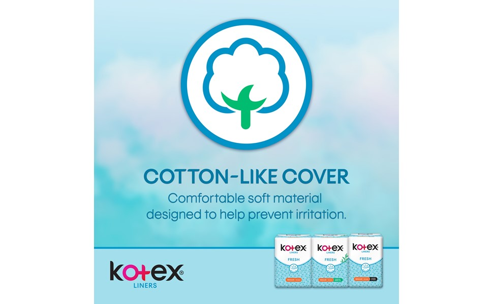 Kotex Fresh Liners - cotton cover
