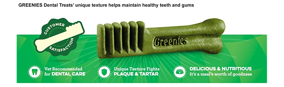 Greenies, Dental Treats, Dog, Treats, breath, fresh, teeth, gums, cleans, freshener, plaque, tartar