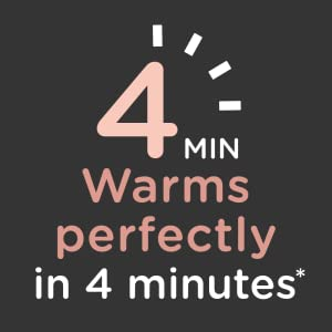 warms in 4 minutes