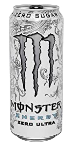 0 calories 0 sugar sugar-free lo carb diet black can Monster black cherry drink Ultra Black