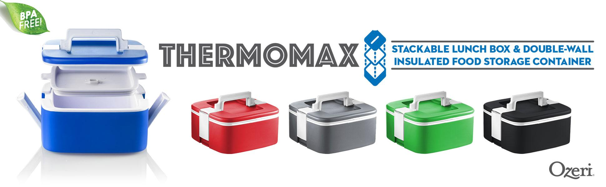 Amazon Com Ozeri Fs3 Bl Thermomax Stackable Lunch Box And