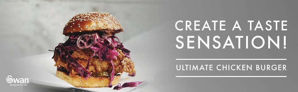 Create a taste sensation! Ultimate chicken burger