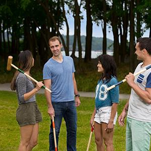 deluxe series croquet baden backyard games outdoor park recreation recreational game