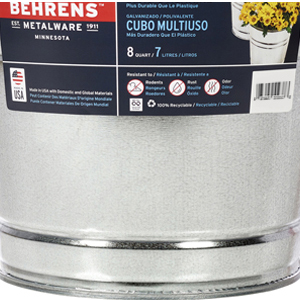 2.5 2qt 5qt beer behrens beverage dipped galvanized hot llc manufacturing metal pack tin utility
