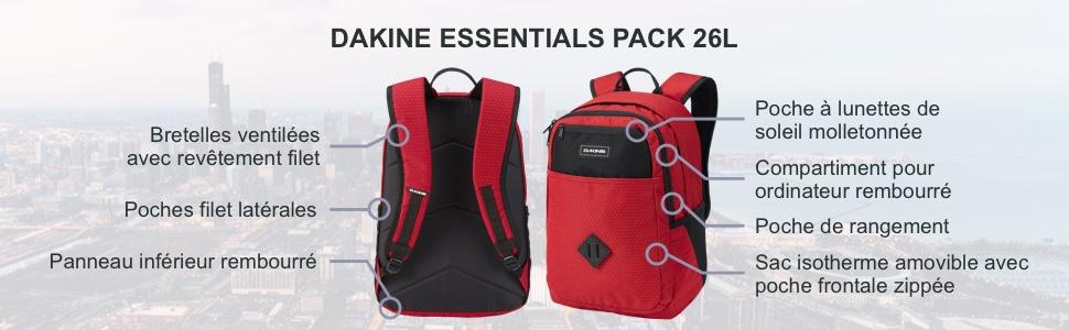 Unisexe Adulte Dakine Sac /à Dos Essentials Pack 26L