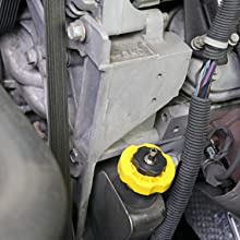 These adapters form an airtight seal in the neck of a vehicle's power steering pump allowing