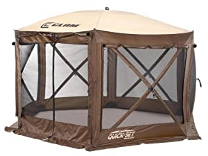 Clam Outdoors Quick-Set Pavilion Screen Shelter 150 X 150-Inch  sc 1 st  Amazon.com & Amazon.com: Clam Corporation 9882 Quick-Set Pavilion 150 x 150 ...