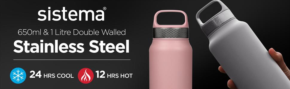650ml & 1 Litre Stainless Steel Bottle