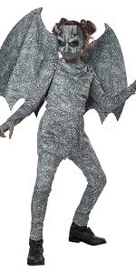 Gargoyle, Girls' Costume, Stone Costume, Halloween, Beast, Creature, Girl's Mask, Costume with Mask