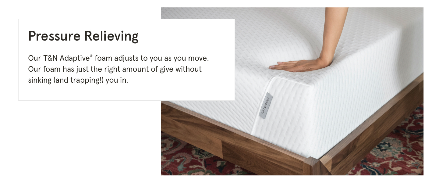 pressure relieving t&n adaptive memory foam no sinking or trapping