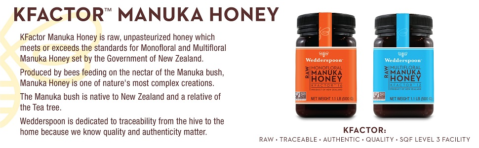 Honey, Manuka, Raw, New Zealand, Unfiltered, Unpasteurized, Sweetener, Kitchen, Pure, Bees, Organic