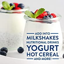 add to milkshakes nutritional drink yogurt hot cereal and more for added protein and calories
